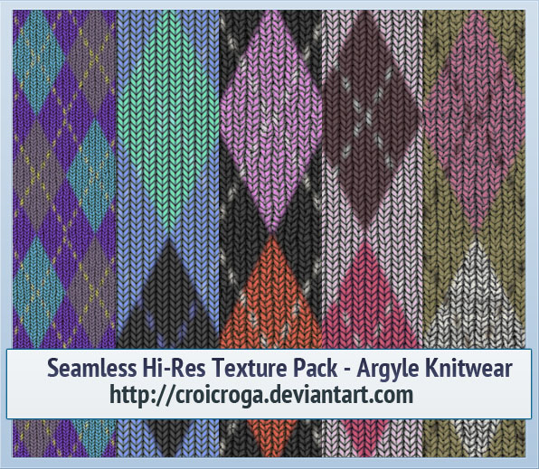 Seamless Hi-Res Texture Pack - Argyle Knitwear