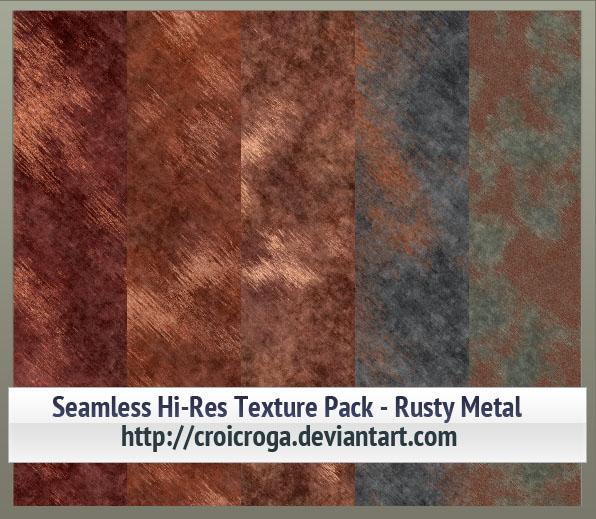 Seamless Hi-Res Texture Pack - Rusty Metal