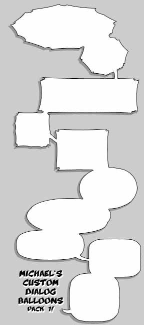 Custom Dialog Balloons - Pack 1 by MichaelMayne