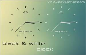 BW Clock by Vit-Ok