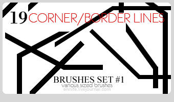 19 Border Brushes 01 by ennife-resources