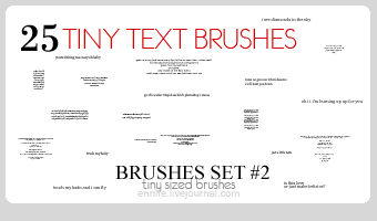 25 Tiny Text Brushes 02 by ennife-resources