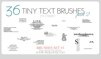 36 MORE Tiny Text Brushes 03 by ennife-resources