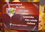Drinks promotional design for Alea Corona