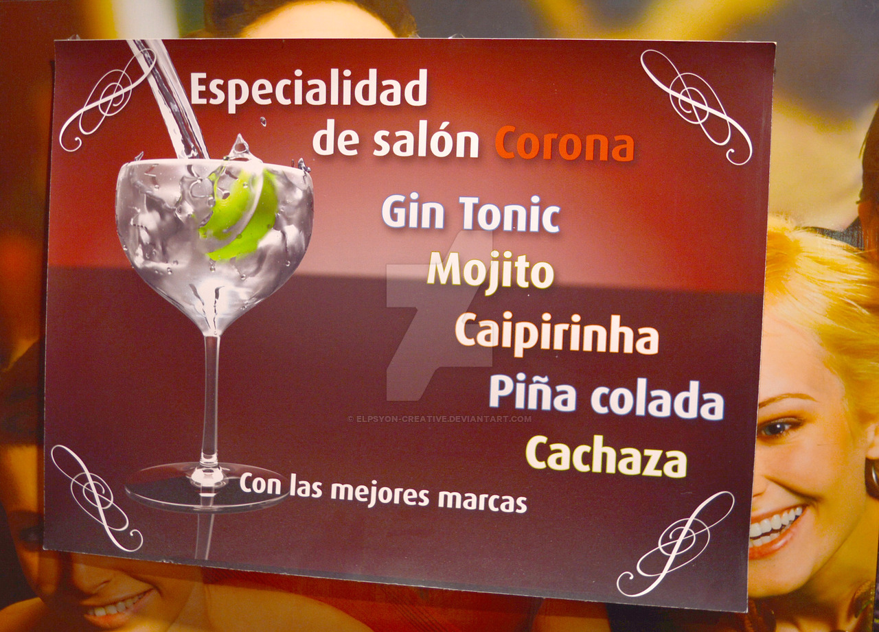 Drinks promotional design for Alea Corona by Elpsyon-Creative
