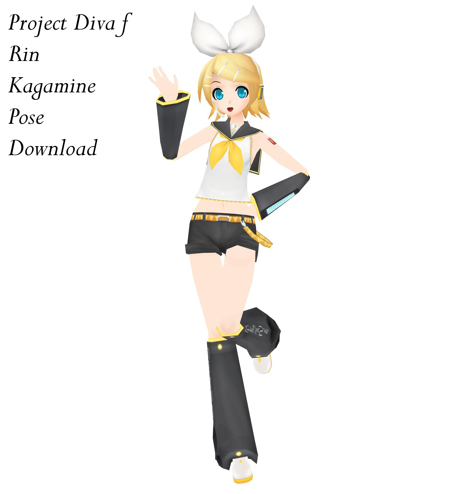 Project diva f rin kagamine pose download by reon046 on deviantart - Kagamine rin project diva ...