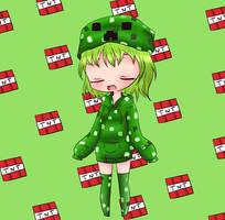 Chibi Creeper girl by BunnieBuns