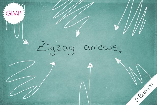 GIMP Zigzag Arrows