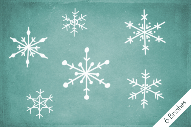 Snowflakes Brushes by byjanam