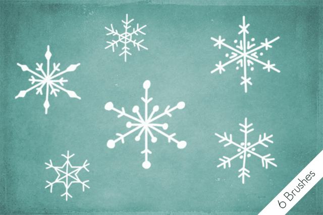 Snowflakes Brushes by byjanam