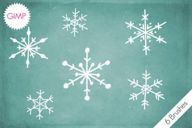 GIMP Snowflakes Brushes