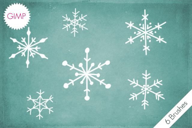 GIMP Snowflakes Brushes by byjanam