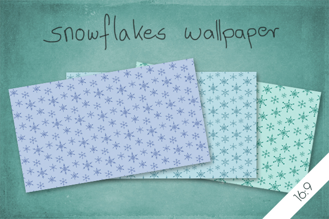 SnowflakesWallpaper16-9 by byjanam
