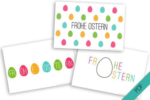 Osterkarten { Eier } PDF
