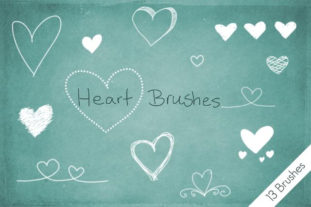 Heart Brushes by byjanam