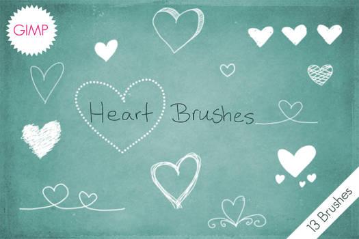 Heart Brushes GIMP