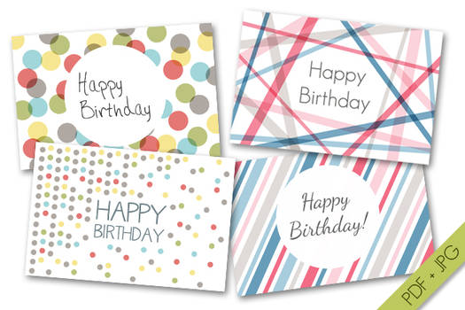 Happy Birthday Cards Set#1