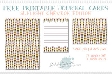 Free Journaling Cards - {Sunlight Chevron Edition}
