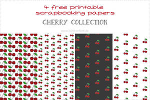 {Free printable papers} - Cherry Collection