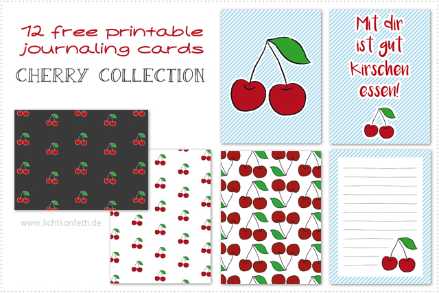 photograph about Free Printable Journal Cards known as Totally free printable magazine playing cards - Cherry Range via byjanam