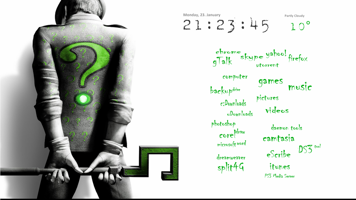 The Riddler Desktop by noistalgic