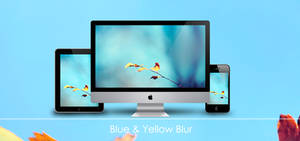 Blue and Yellow Blur