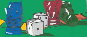 Jumanji Game Tokens Illustration