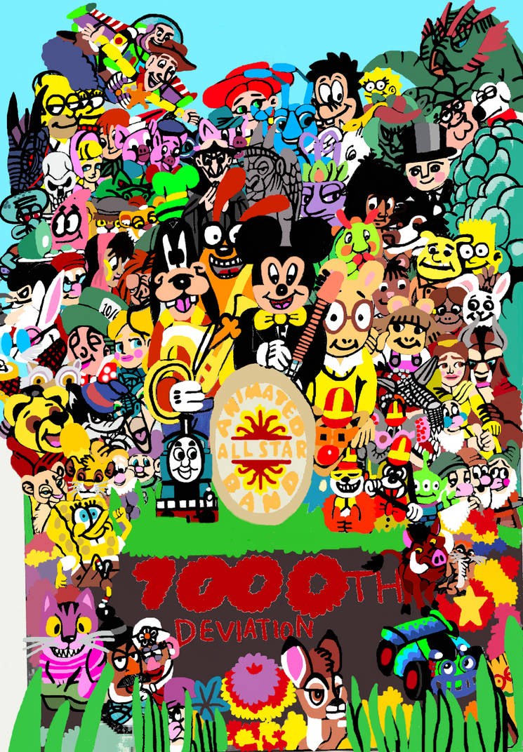 All-Star Animated band for 1000th Deviation!