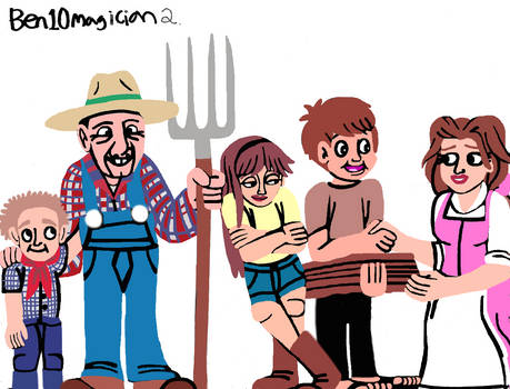 Ben10Magician's Straw and Sticks family