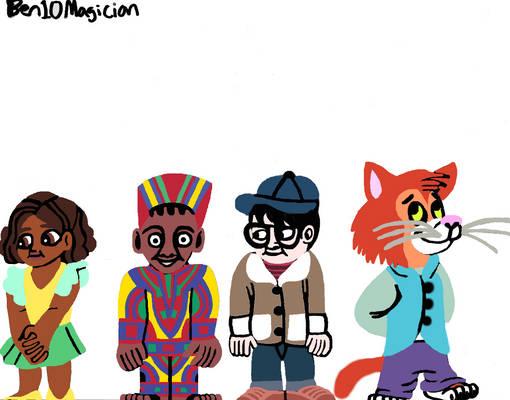 Ben10Magician's Adora, Kanye,Cheng, Gilligan