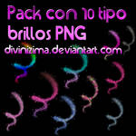 pack con 10 tipos brillos png