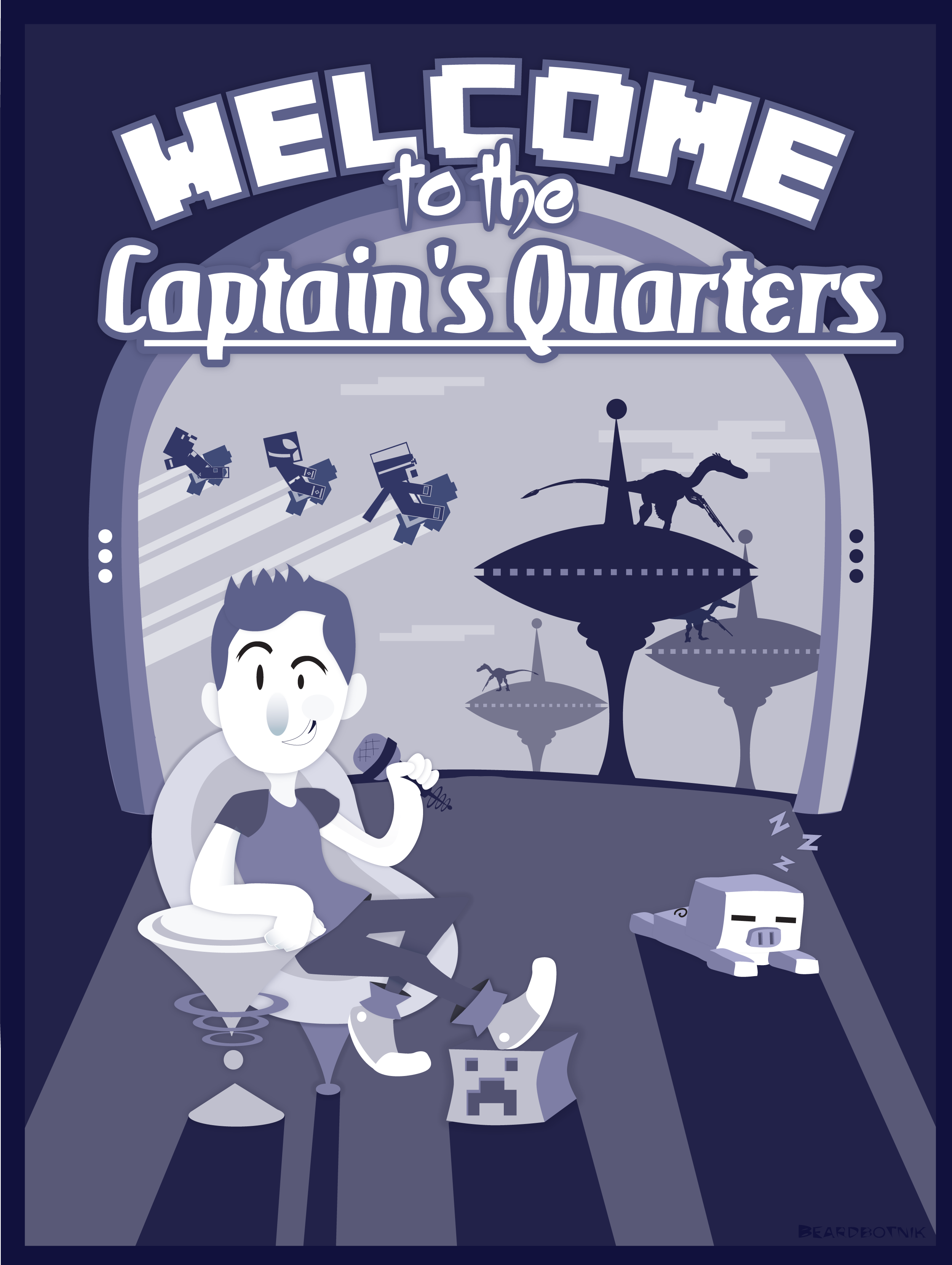 (Captain Sparklez Fanart) Captain's Quarters by ShadowNami92
