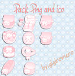 Pack cat pink ico and png