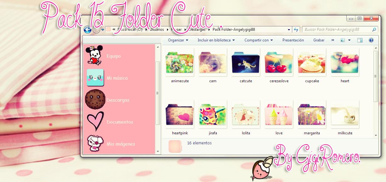 Cute Folder Icons Pack...