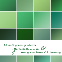 20 soft green gradients by KumquatsLair