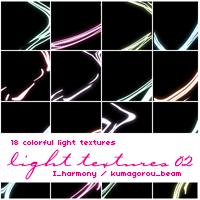 18 colorful Light Textures by KumquatsLair