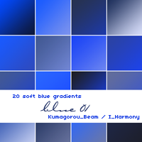 20 soft blue gradients by KumquatsLair