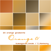 20 soft orange gradients by KumquatsLair