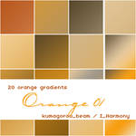 20 soft orange gradients