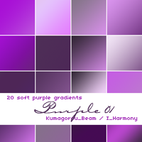 20 soft purple gradients by KumquatsLair