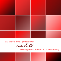 20 soft red gradients by KumquatsLair