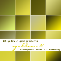 20 soft yellow gradients by KumquatsLair