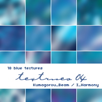 18 Blue Textures by KumquatsLair