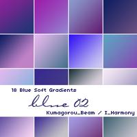 18 Soft Blue Gradients by KumquatsLair