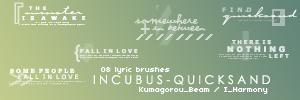 8 Lyric Brushes by KumquatsLair