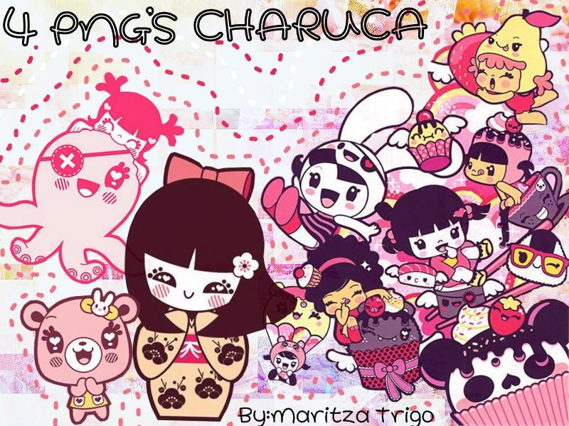 Pack 4 PNG Charuca by SandHansen