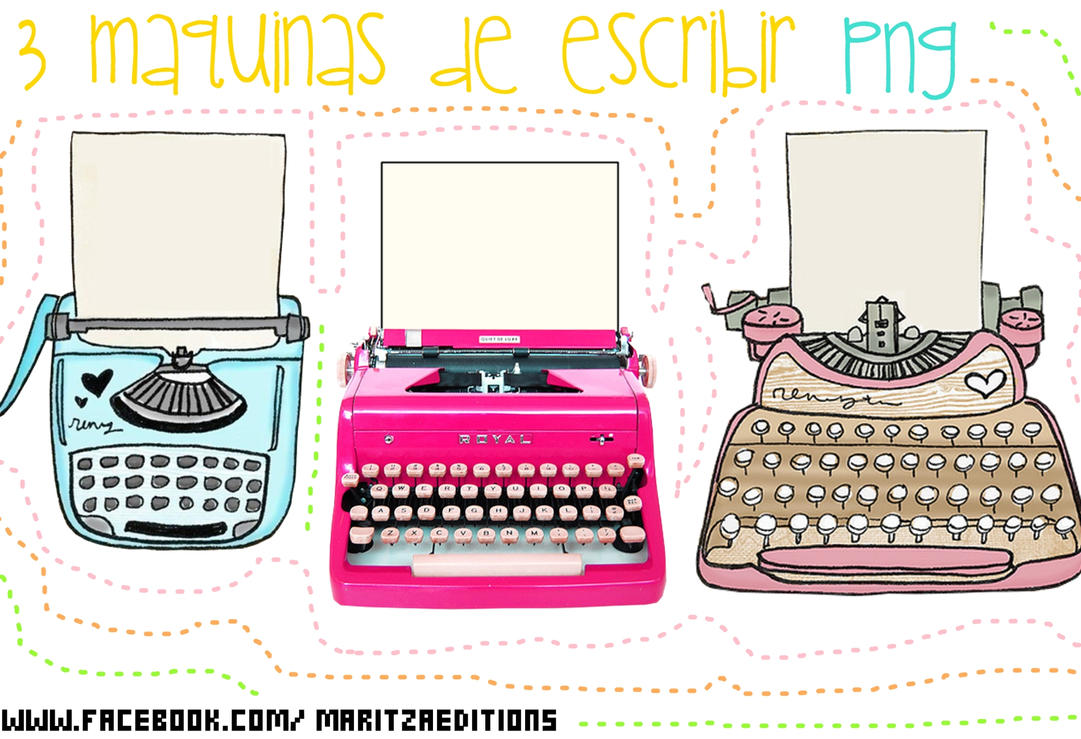 3 PNG maquinas de escribir by SandHansen