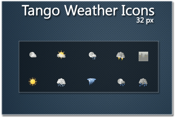 Tango Weather Icons  32px by RippeR47