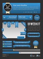 FREEBIES : UI Blue web kit by oblik50