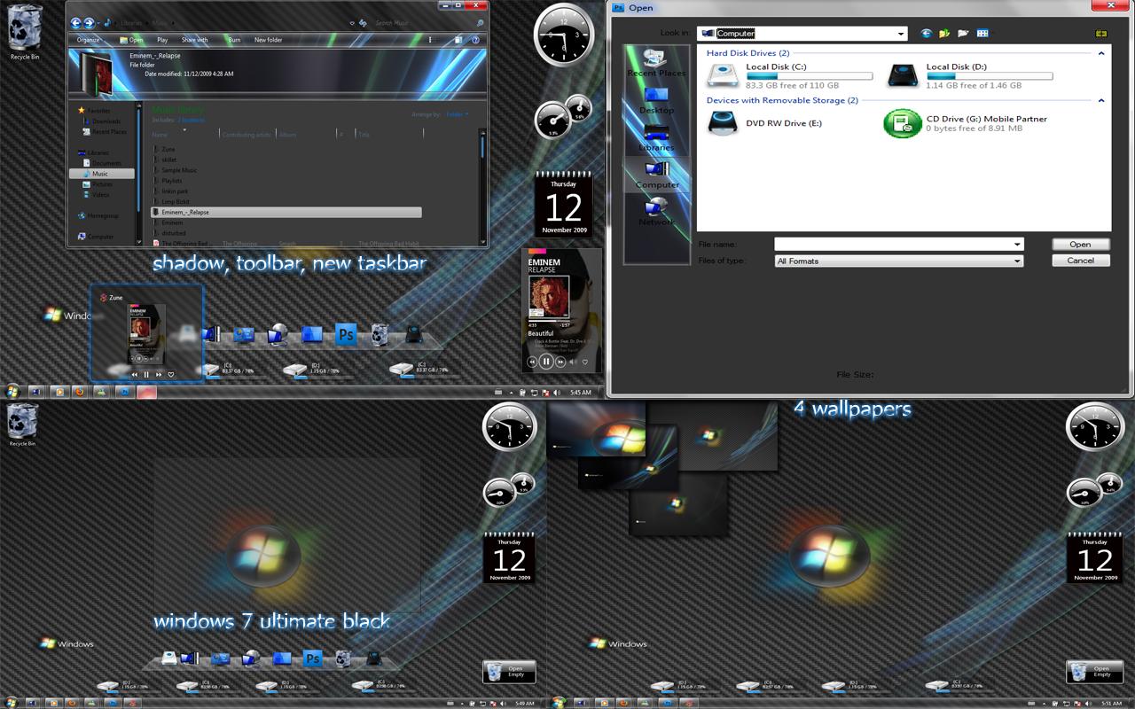 windows 7 ultimate black by nullz0rz